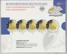 Allemagne Coins Set 2011 Cathédrale de Cologne Poli Plaque Emballage D'Origine