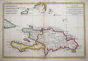 CARIBBEAN - DOMINICAN REPUBLIC - TURKS & CAICOS - HAITI BY R BONNE, CIRCA 1780.
