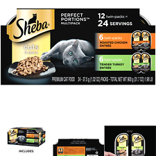 Sheba Perfect Portions Soft Wet Cat Food Cuts in Gravy Roasted Chicken Entrée.