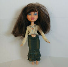 MGA Bratz doll big brown hair, blue eyes, in jeans & white shirt