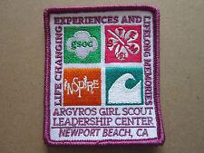 Argyros Girl Scout Center CA BSA Cloth Patch Badge Boy Scouts Scouting (L2K)