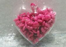 Pink Heart Shaped Push Pins Clear Plastic Container 200Pc Bulletin Board Office