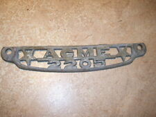Antique Acme 2205 Cast Metal Old Advertising Sign