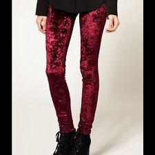 BDG Urban Outfitters Crushed Velvet Red Burgundy Leggings S 8