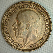 1936 Great Britain English Farthing Extra Fine George V Bronze Coin Blemish