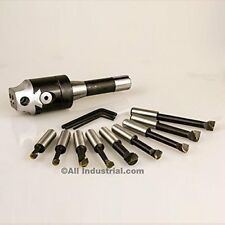 "bhs-2 2"" boring head set, including r8 shank and 1/2"" carbide boring bar set"