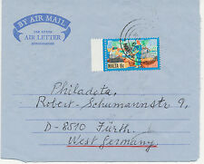 2402 MALTA 1986, 6 C Fishing on superb Air Letter to Germany