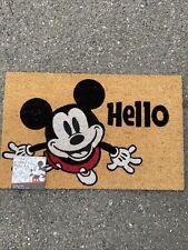 New Disney Mickey Mouse Outdoor Heavy Coir Straw Mat 18x28 NWT Hello NWT