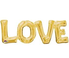 LOVE AIR FILLED JUMBO BALLOON BANNER KIT ENGAGEMENT WEDDING BRIDAL SHOWER PARTY