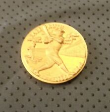 BABE RUTH NY YANKEES 24 KT GOLD E.P. ON BRONZE COIN LONGINES WITTNAUER ROUND