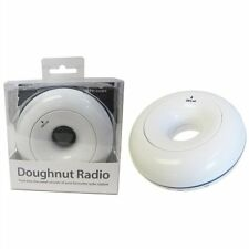 BRAND NEW BOXED White Doughnut Shaped FM Radio by UNI-COM
