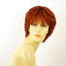 perruque femme 100% cheveux naturel courte cuivré intense ref DANNY 130