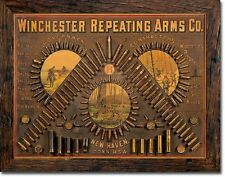 Winchester Repeating Arms CO Ammunition Ammo Firearms Guns Hunt Metal Tin Sign