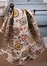 Quilt Throw Boho Chic Collection Andorra Cotton Lap Blanket