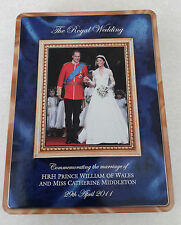 Prince William Kate Middleton Wedding Commemorative Tin Walkers