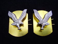 Army Air Corps AAC Military NO1/NO2 Dress Jacket Silver A/A Metal Collar Badges