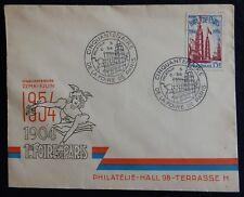 """J30* Enveloppe Foire de Paris 1954 (timbre n°975) état """"moyen"""""""