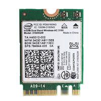 Intel Dual Band Wireless-AC 3160NGW Bluetooth 4.0 Wifi WLAN card HP 784644-005