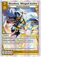 Kaijudo X1 ALCADEUS, WINGED JUSTICE Super Rare S1/S5 2DED Dojo Edition 2012