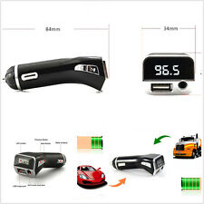Multi-function Car Charger Wireless Handsfree FM Transmitter MP3 Player 12V/24