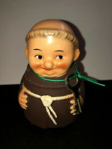 EXCELLENT GOEBEL WEST GERMANY MONK FRIAR TUCK BANK WITH KEY