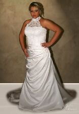 "NWT White size 18 lace/satin bridal gown, Jalis ""Claire"" formal wedding dress"