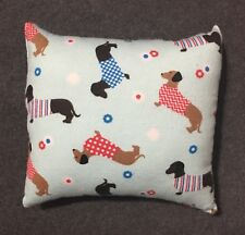 "Beautiful Handmade Fleece Dachshund Dog Accent - Throw Pillow 9"" x 9"""