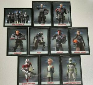 (2021) Star Wars The Bad Batch Topps eBay Complete Limited Edition 10 Card Set