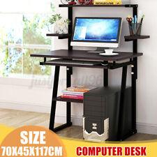 Computer Desk PC Laptop Table Bookshelf Study Workstation Home Office W/ Shelf