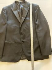 mens black INDOCHINO 2pc PANT TUXEDO suit formal wool tux cashmere recent 42 R
