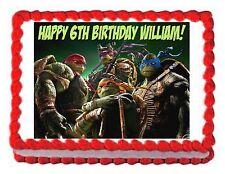 TMNT 2014 Teenage Mutant Ninja Turtles party edible cake topper frosting sheet