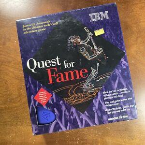 Quest For Fame IBM PC Aerosmith Electronic Virtual Music Entertainment 1995 NIB