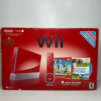 Red 25th Anniversary Nintendo Wii - Complete in Box w/ Mario Bros & Wii Sports