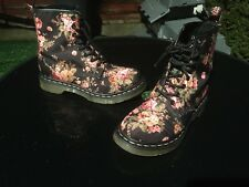Dr Martens 1460 black victorian flowers canvas boots UK 5 EU 38