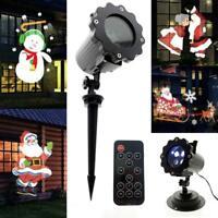 Lampara Exterior Proyección Decoracion Luces Navidad Control Remoto Temporizador