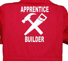 Apprentice Builder Overalls Children's, Kids, Coverall, Boilersuit, 1-8yrs