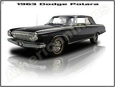 1963 Dodge Polara New Metal Sign: Pristine Restoration!