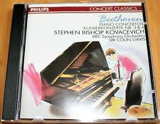BEETHOVEN PIANO CONCERTOS NR 3/4 STEPHEN BISHOP KOVACEVICH PHILIPS 422 062-2 CD