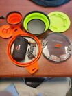 MSR rocket pocket deluxe stove and sea to summit cook set and bowls photo