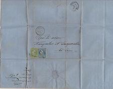 *Greece #25, 27, Folded Letter, 1865, Cat Val: $174