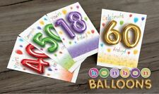 FANTASTIC BALLOON CARDS JUST 25p 8 designs x 12, WRAPPED, HIGH GLOSS, PROVEN!