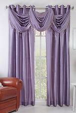 "Chelsea 56"" X 84"" Faux Silk Window Curtain with 8 Grommets Lavender Color"