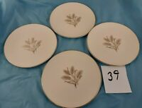 Set of 4 Bread Dessert Plates Wheat Pattern Unmarked Vintage Dinnerware China