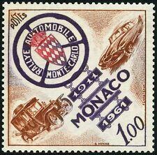 "MONACO STAMP TIMBRE N° 555 "" RALLYE AUTOMOBILE CINQUANTENAIRE 1 F "" NEUF xx TTB"