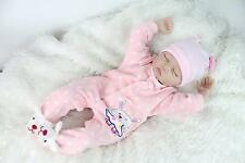 """REBORN DOLLS REAL LIFELIKE BABY GIRL 22"""" SOFT SILICONE VINYL WEIGHTED BODY"""
