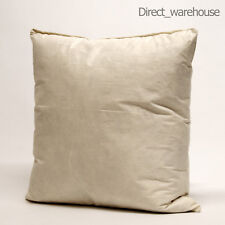 """10"""" x 10"""" inches (25 x 25 cm) Cushion Pad Duck Feather Filling"""