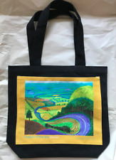 DAVID HOCKNEY Garrowby Hill Vibrant Landscape Limited Edition Canvas Tote Bag