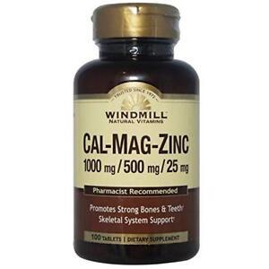 Windmill Calcium Magnesium Tablets, 100 Ct (9 Pack)