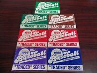 1985 1986 1987 1988 1989 1990 1991 Topps Traded Complete Set Run-Bonds RC-Bo RC!