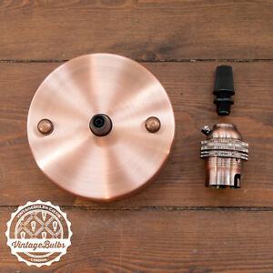 Vintage Light Fitting Set Antique Copper Pendant Lamp Holder E27 B22 Variations